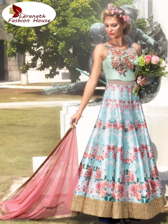 Bangalori Silk Digital Printed Gown JN2700