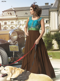 Brown Style Designer Gown - 2704