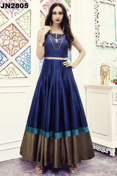 Designer Slim Fit Gown with Fancy Style - 2805