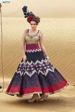 Digital Printed Heavy Choli style Gown - 2717