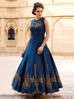 Hand Worked Heroine Style Long Gown - 304