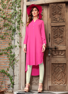 Casuale Pink Colour Kurti's