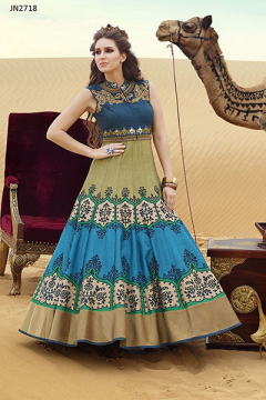Light Blue Colour Fancy style Gown - 2718