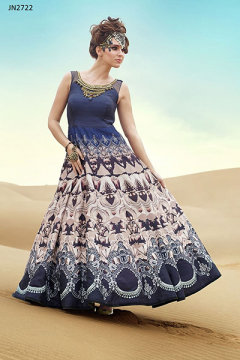 Party Wear Designer Gown with Heavy Hand Worked - 2722