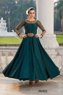 Single Colour Party Wear Gown with New Style - 301